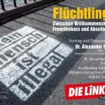 Plakat Flüchtlingsveranstaltung Troisdorf