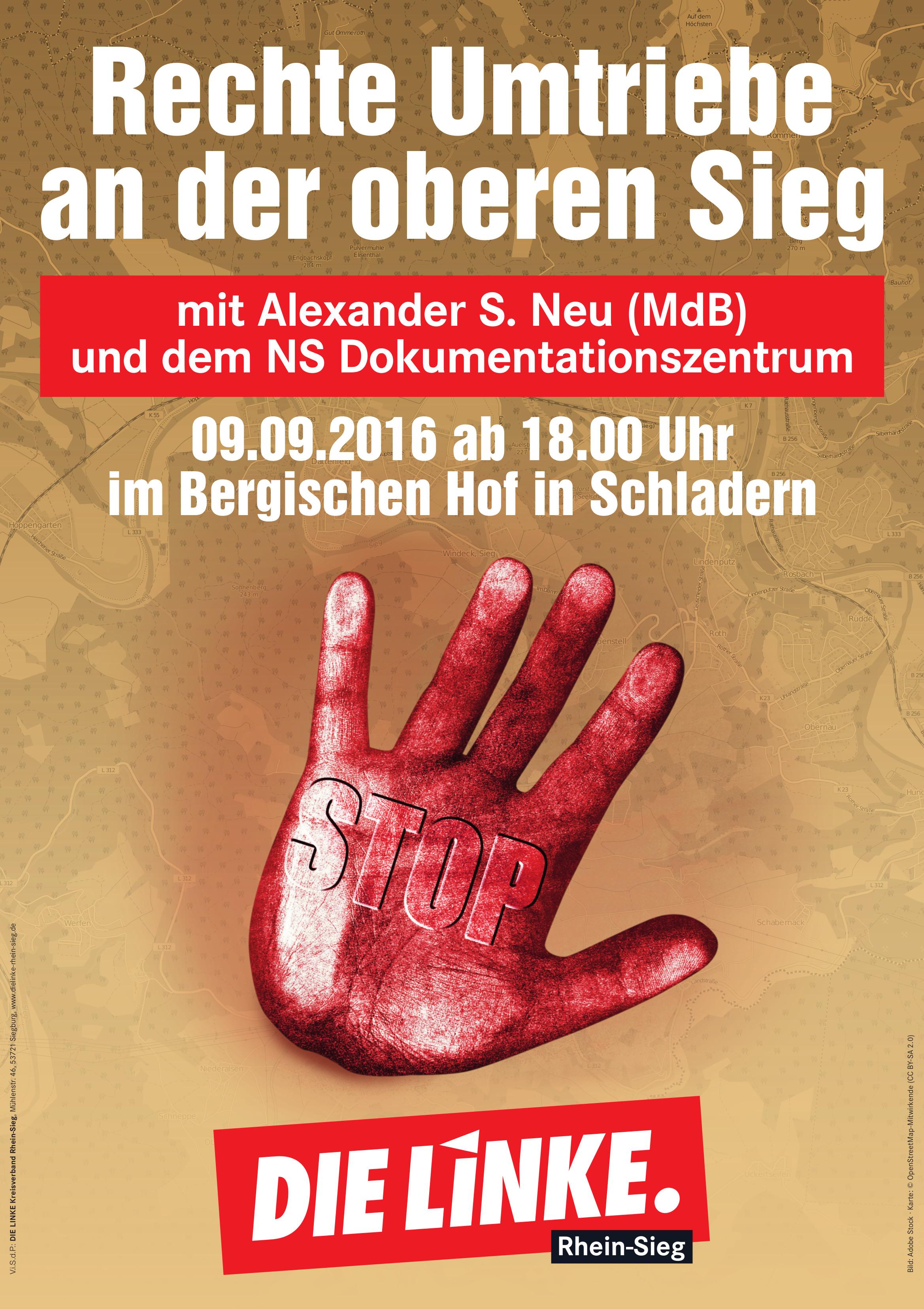 Plakat Rechte Umtriebe