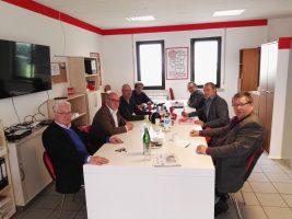 vlnr M.Lehmann, Hr.Steffens, F. Kemper, R. Conle, A. Danne, KH. Alff, R. Andres