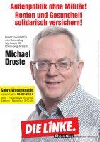 Plakat Michael Droste, Bundestagskandidat 2017, WK 98